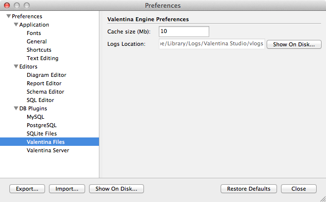 Preferences Dialog - Valentina Files
