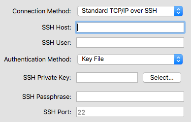 Connect dialog -- SSH Authentication by Key