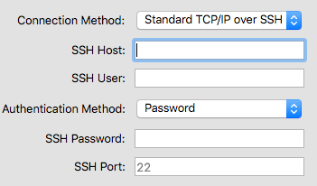 Connect dialog -- SSH Authentication by Password