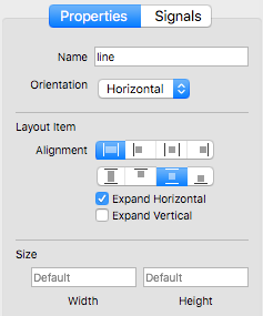 Form Editor - Line Properties