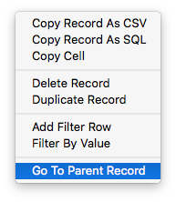Data Editor - Go to parent record