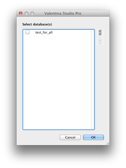 Open Remote Database Dialog